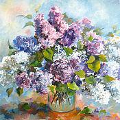 Картины и панно handmade. Livemaster - original item Lilacs in a jar Painting is oil on canvas 50h40. Handmade.
