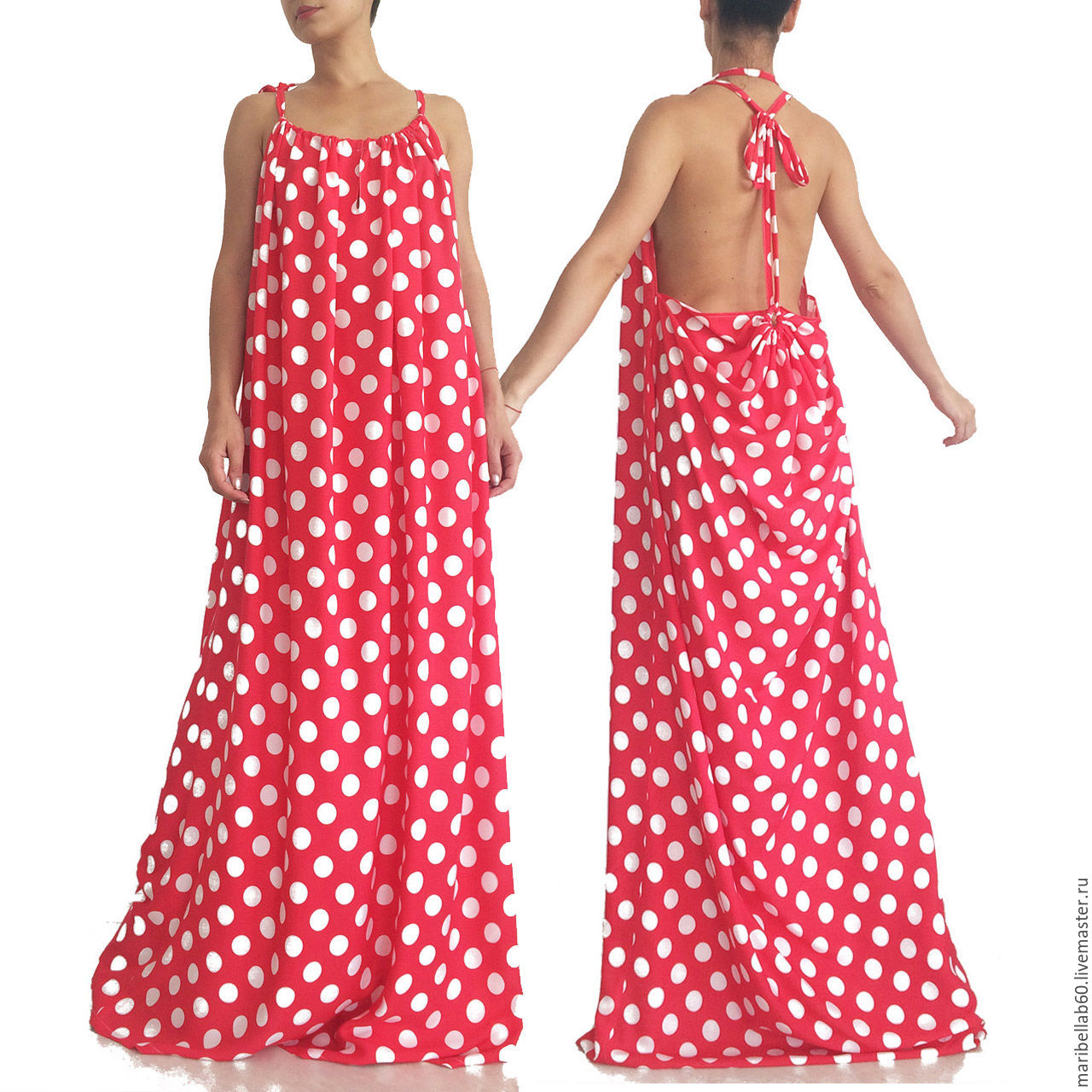 a795ed9ae7f Платья ручной работы. Ярмарка Мастеров - ручная работа. Купить Ретро платье  в горошек ...