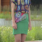 Одежда ручной работы. Ярмарка Мастеров - ручная работа SALE! -80% Юбка мини с оборкой зеленая. Handmade.