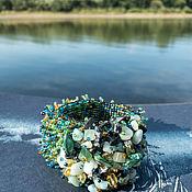 Винтаж handmade. Livemaster - original item Ondine. Stylish stretch bracelet with minerals. Handmade.