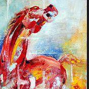 Картины и панно ручной работы. Ярмарка Мастеров - ручная работа Конь. Handmade.