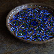 Русский стиль ручной работы. Ярмарка Мастеров - ручная работа Тарелка, керамика, византийская роспись. Handmade.
