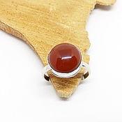 Украшения handmade. Livemaster - original item 18 R. Ring with carnelian Ogneslav. Handmade.