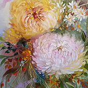 Картины и панно handmade. Livemaster - original item painting chrysanthemums-2. Handmade.