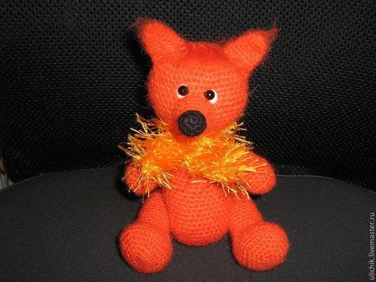 Игрушки животные, ручной работы. Ярмарка Мастеров - ручная работа. Купить Вязаная игрушка Лисенок. Handmade. Оранжевый, лиса, лес
