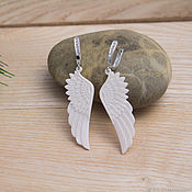 Украшения handmade. Livemaster - original item Earrings-wings of bone. Handmade.