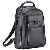 """Сумки и аксессуары handmade. Livemaster - original item Кожаный рюкзак """"Марвин"""" (чёрный). Handmade."""