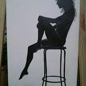 Картины и панно ручной работы. Ярмарка Мастеров - ручная работа Женский силуэт. Handmade.