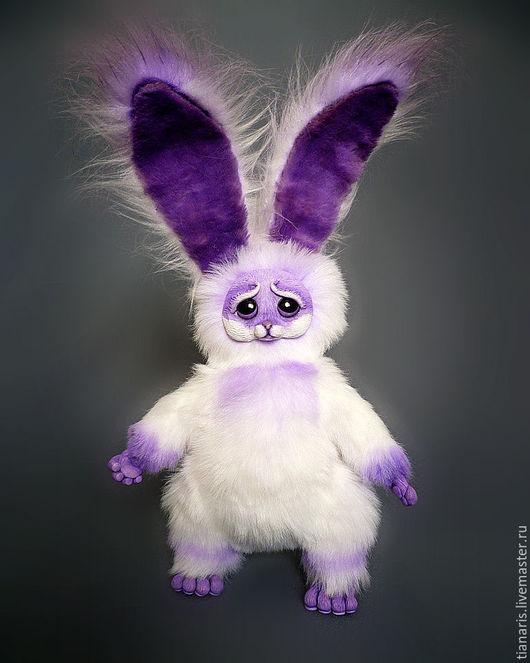 Куклы и игрушки ручной работы. Ярмарка Мастеров - ручная работа. Купить Черничный зай. Handmade. Фиолетовый, искусственный мех