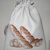Для дома и интерьера ручной работы. Ярмарка Мастеров - ручная работа Мешочек для хлеба. Handmade.