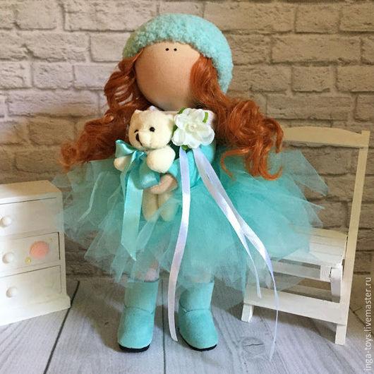 Коллекционные куклы ручной работы. Ярмарка Мастеров - ручная работа. Купить Бирюзовая зефирка. Handmade. Бирюзовый, подарок на день рождения