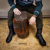 """Мужской рюкзак ручной работы. Ярмарка Мастеров - ручная работа Мужская кожаная сумка через плечо """"Номад"""". Handmade."""
