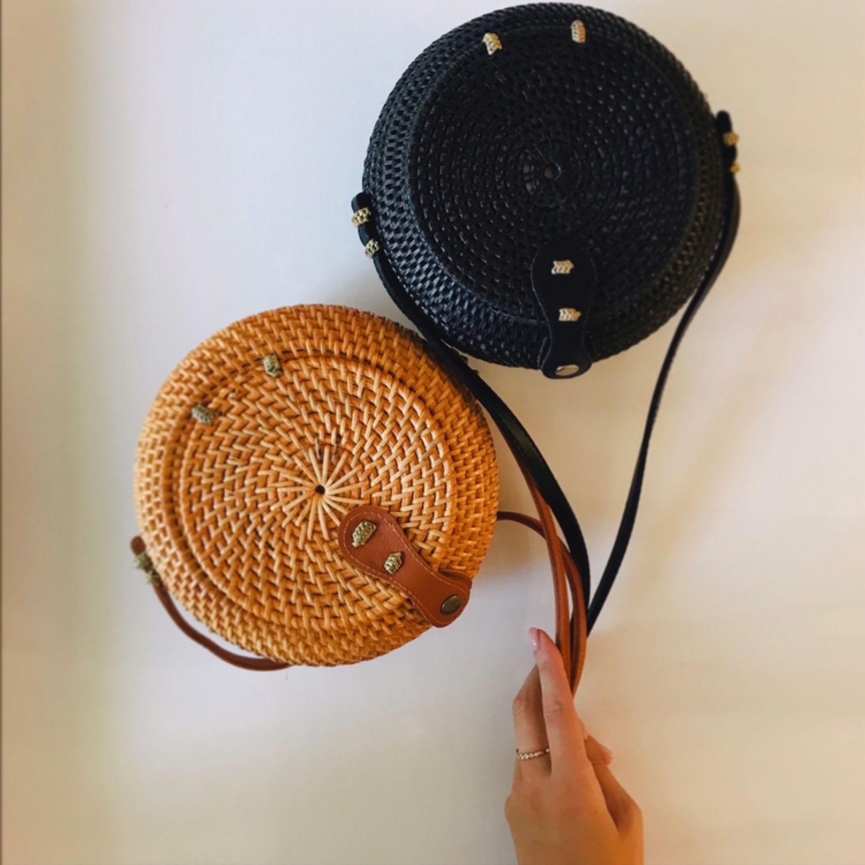 Плетёная сумка Горшок в натуральном цвете