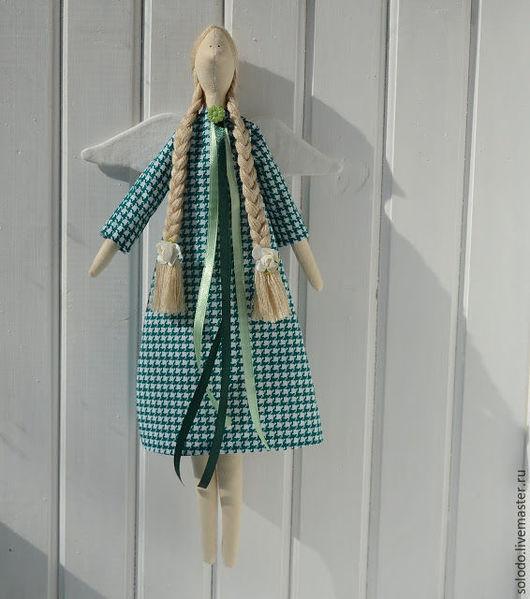 Куклы Тильды ручной работы. Ярмарка Мастеров - ручная работа. Купить Тильда. Handmade. Тёмно-зелёный, интерьерная кукла, холлофайбер