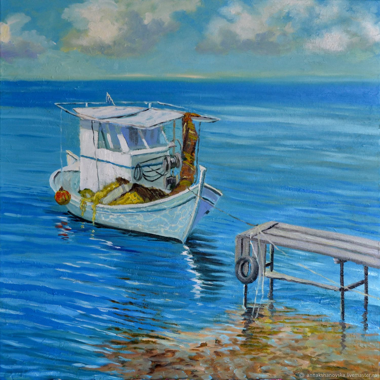 """Картина """"Fishing boat"""", Картины, Киев,  Фото №1"""