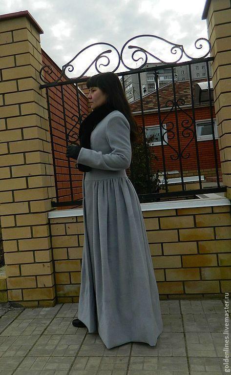 Верхняя одежда ручной работы. Ярмарка Мастеров - ручная работа. Купить пальто принцесса. Handmade. Серый, пальто демисезонное