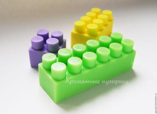 """Мыло ручной работы. Ярмарка Мастеров - ручная работа. Купить Мыло """"Лего"""". Handmade. Лего, мыло ручной работы"""