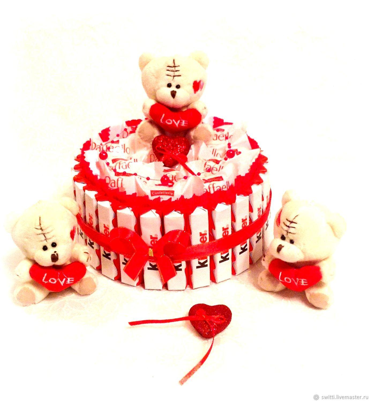 Торт из киндер шоколада в подарок, Букеты, Мытищи,  Фото №1