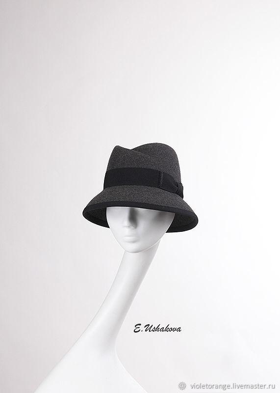 Gray the Cloche hat.Unique hats, hats, hats, caps, fascinators and handmade accessories.Create designer hats for every age and style.Fashion designer, milliner Elena Ushakova.