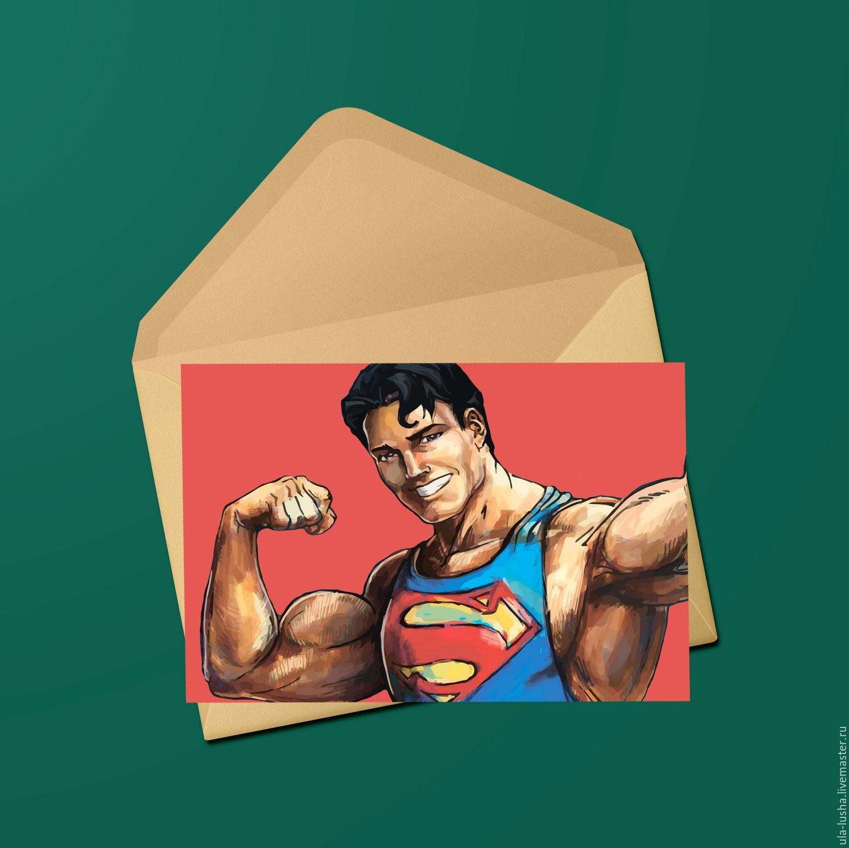 Открытка супермену, рождеством фото
