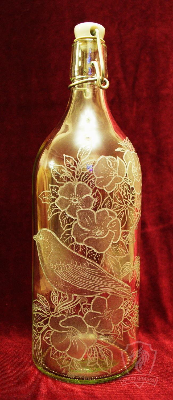 Spring bird. Decorated bottle, Bottles, Nizhny Novgorod,  Фото №1