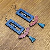 Украшения handmade. Livemaster - original item Wooden earrings with apatites and pearls. Handmade.