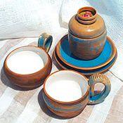 Single Tea Sets handmade. Livemaster - original item