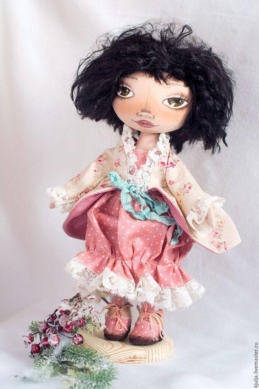 Коллекционные куклы ручной работы. Ярмарка Мастеров - ручная работа. Купить Юлька. Handmade. Бледно-розовый, кукла в подарок