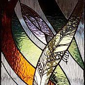 Для дома и интерьера ручной работы. Ярмарка Мастеров - ручная работа Тиффани. Витраж в оконную нишу. Handmade.