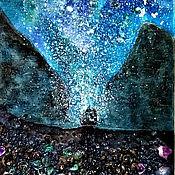 Картины и панно handmade. Livemaster - original item Painting sea and ship in the style of symbolism Lighting your way. Handmade.