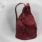 Сумки и аксессуары handmade. Livemaster - original item Leather backpack. Handmade.