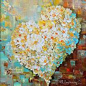 """Картины и панно ручной работы. Ярмарка Мастеров - ручная работа Картина маслом """"La floraison se""""-интерьерная картина. Handmade."""