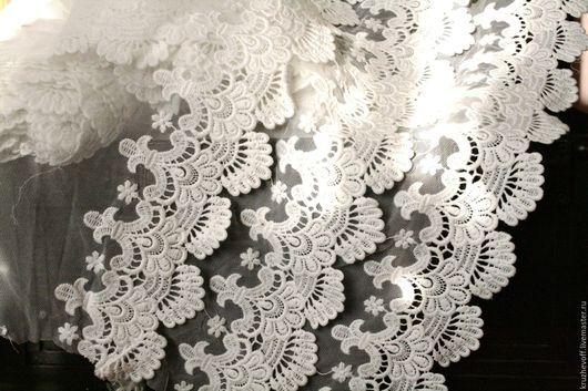 Шитье ручной работы. Ярмарка Мастеров - ручная работа. Купить № 48  Кружевное шитье на сетке.. Handmade. Молочный цвет