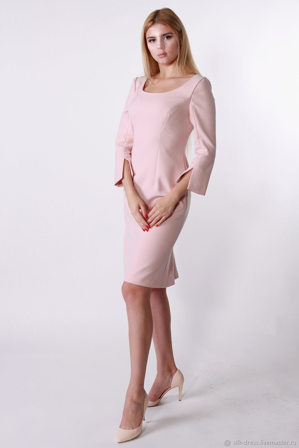 79dd409dfe0 Dress pale pink – shop online on Livemaster with shipping - FWN5RCOM ...