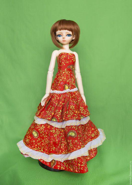 Одежда для кукол ручной работы. Ярмарка Мастеров - ручная работа. Купить Костюм для МСД. Handmade. Комбинированный, платье, кукла, шляпка