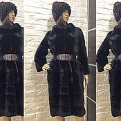 Одежда ручной работы. Ярмарка Мастеров - ручная работа Шуба норковая Blackglama модель кокон с воротником. Handmade.