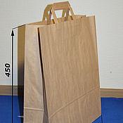 Пакеты ручной работы. Ярмарка Мастеров - ручная работа Крафт пакет 350х150х450мм, с плоскими ручками. Handmade.