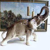 Винтаж handmade. Livemaster - original item ELEPHANT figurine porcelain Germany 25 cm. Handmade.