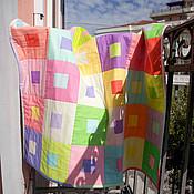 Для дома и интерьера ручной работы. Ярмарка Мастеров - ручная работа Леденцовый набор (одеяло и наволочка). Handmade.