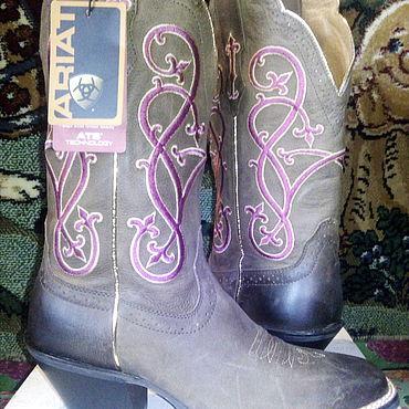 Обувь ручной работы. Ярмарка Мастеров - ручная работа Сапоги: брендовые казаки. Handmade.