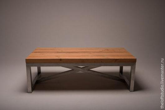 Мебель ручной работы. Ярмарка Мастеров - ручная работа. Купить Журнальный стол. Handmade. Черный, журнальный столик, лофт мебель