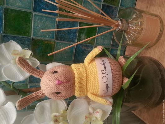 Игрушки животные, ручной работы. Ярмарка Мастеров - ручная работа. Купить Кролик. Handmade. Бежевый, зайчик, игрушка ручной работы