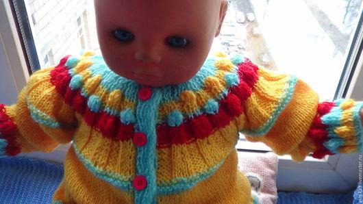 Одежда для девочек, ручной работы. Ярмарка Мастеров - ручная работа. Купить вязаная кофточка для девочки 1-2 года из шерсти. Handmade.