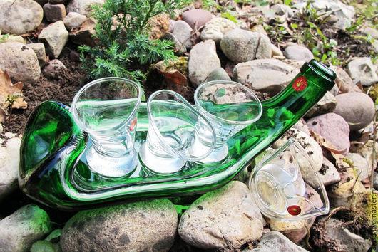 Пьяное стекло от Третий Куб! Комплект `Зелёный гусь`!