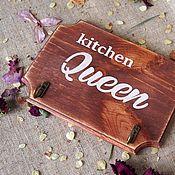 Для дома и интерьера ручной работы. Ярмарка Мастеров - ручная работа Вешалка для кухни, Kitchen queen.. Handmade.