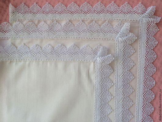 салфетка / носовой платок  с кружевом