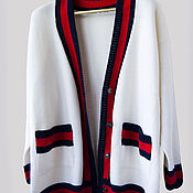 Одежда handmade. Livemaster - original item Cardigan knitted in the style of GUCCI. Handmade.
