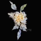 Украшения handmade. Livemaster - original item Brooch-pin: Peari rose. Handmade.