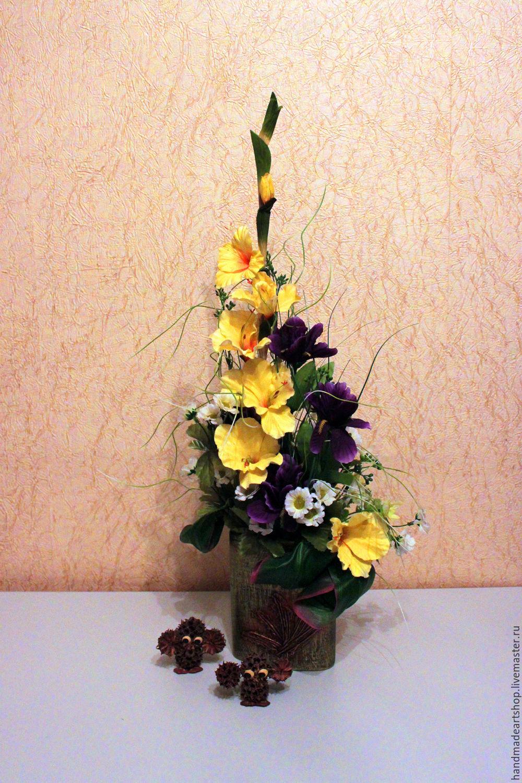 Композиция из искусственных цветов своими руками мастер класс 93
