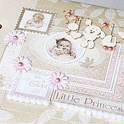 Подарки к праздникам ручной работы. Ярмарка Мастеров - ручная работа Фотоальбом для девочки, дневник мамы, дневник беременности. Handmade.